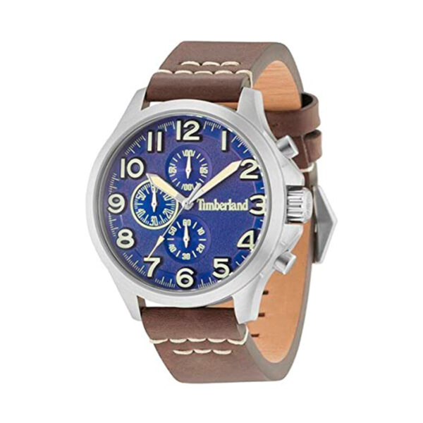 Reloj Timberland Brenton Hombre 15026JS-03 Esfera azul correa piel marrón