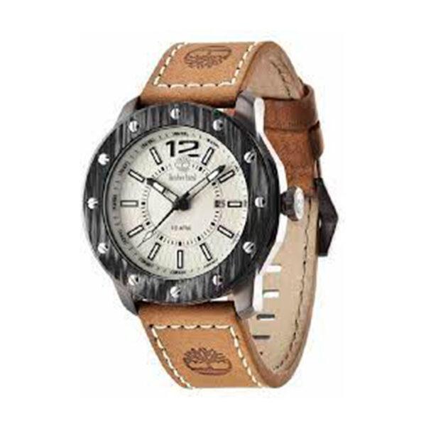 Reloj Timberland Stinson Hombre 14116JSU-07 Esfera beige correa piel marrón claro