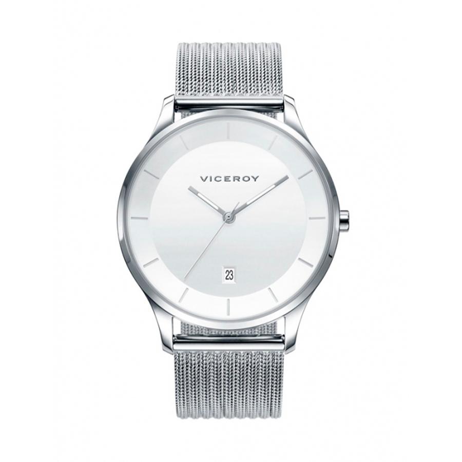 Reloj Viceroy Air Hombre 42299-07 Acero esfera blanca y correa malla milanesa plata