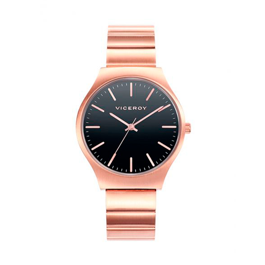 Reloj Viceroy Air Mujer 401004-57 Acero rosado con esfera negra