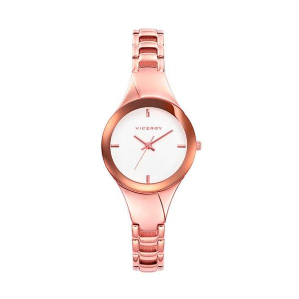 Reloj Viceroy Air Mujer 40952-97 Acero rosado con esfera blanca