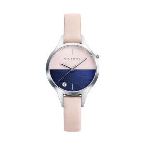 Reloj Viceroy Air Mujer 42328-37 Acero esfera bicolor rosa y azul con Calendario y correa piel rosa