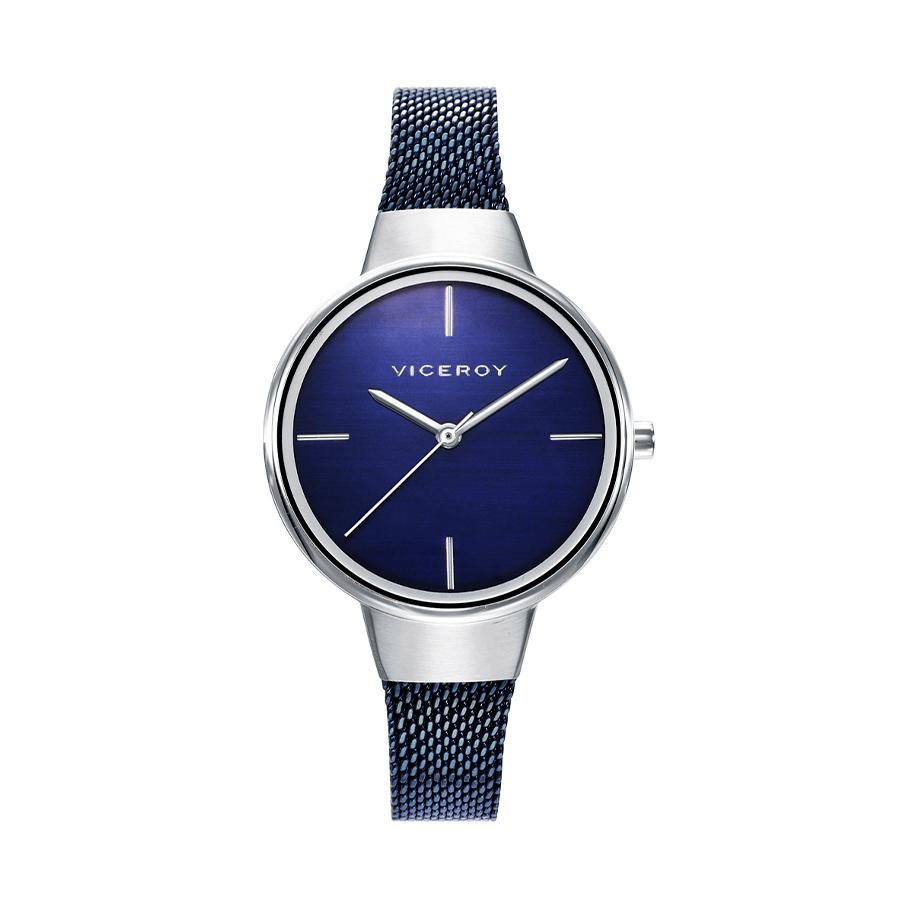 Reloj Viceroy Air Mujer 42350-37 Acero esfera azul y correa malla milanesa azul