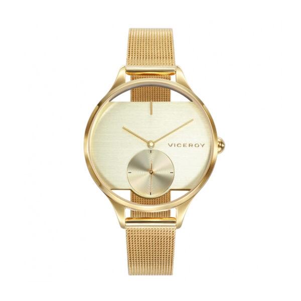 Reloj Viceroy Air Mujer 42370-90 Correa malla dorada