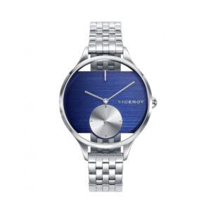 Reloj Viceroy Air Mujer 42372-30 Correa plateada esfera azul