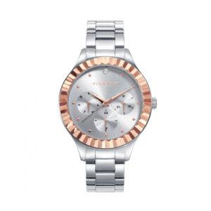 Reloj Viceroy Chic Mujer 42378-87 Acero esfera plata con detalles y bisel rosados