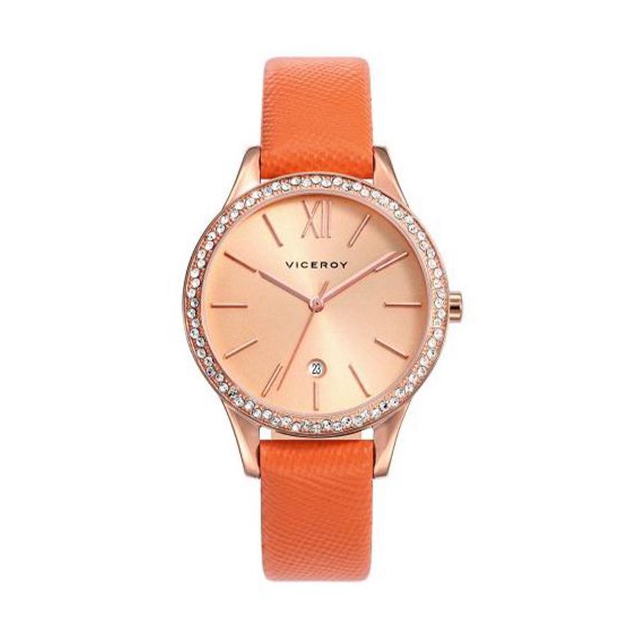 Reloj Viceroy Chic Mujer 471098-93 Caja acero rosado correa piel