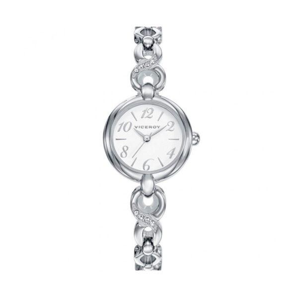 Reloj Viceroy Comunión Mujer 42270-05 Acero esfera blanca y cristales en brazalete