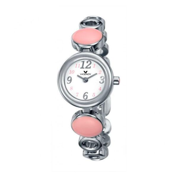 Reloj Viceroy Comunión Mujer 46626-74 Acero con esfera blanca y rosa