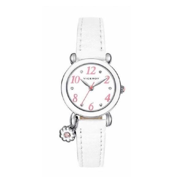 Reloj Viceroy Comunión Mujer 46898-04 Acero esfera blanca con detalles rosas
