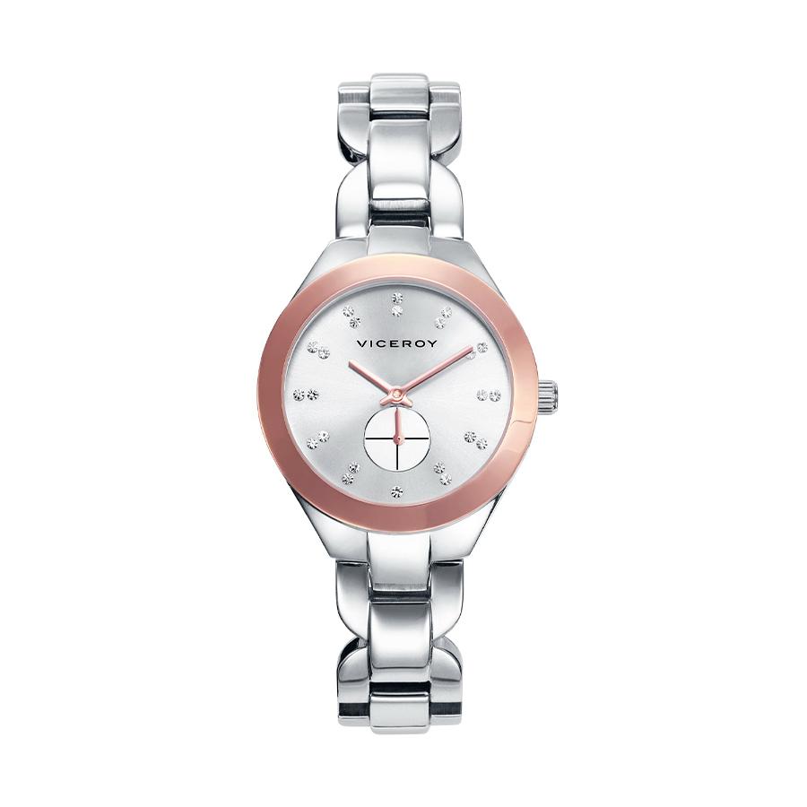 Reloj Viceroy Femme Mujer 40906-00 Acero bisel IP rosa