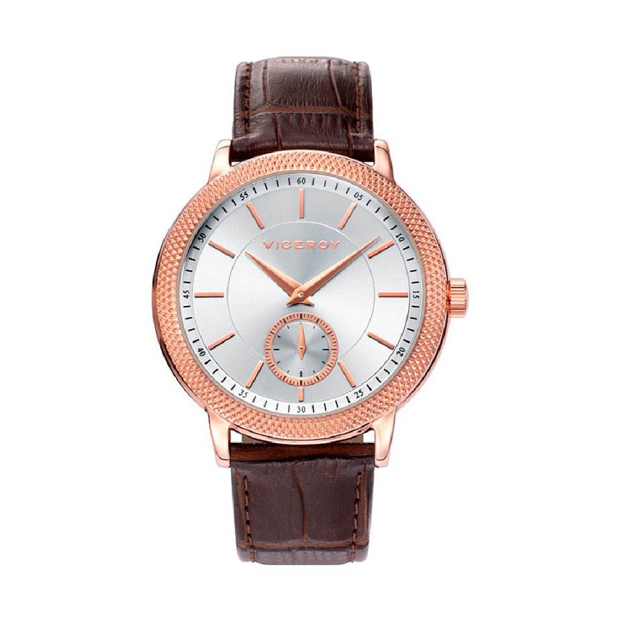 Reloj Viceroy Grand Hombre 401025-07 Rosado correa piel marrón