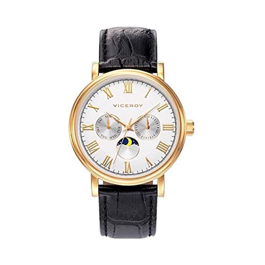 Reloj Viceroy Grand Hombre 401029-03 Multifunción piel negra