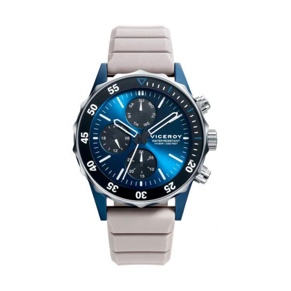 Reloj Viceroy Heat Hombre 471159-37 Acero esfera azul con correa silicona gris