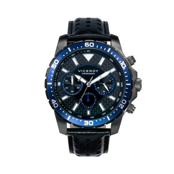 Reloj Viceroy Hombre 40467-37 Cronómetro Piel negra