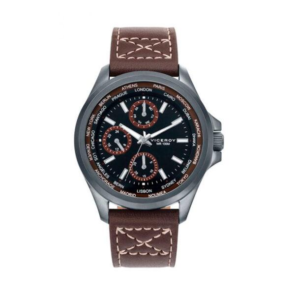 Reloj Viceroy Hombre 40487-87 Acero correa piel marrón