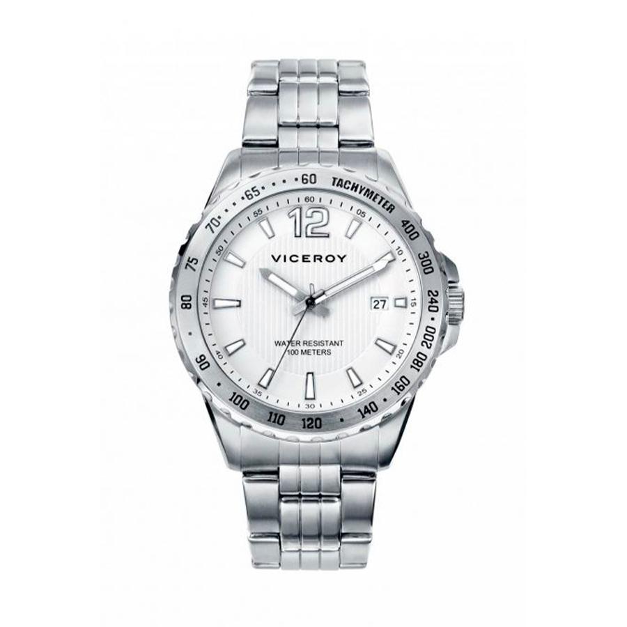 Reloj Viceroy Hombre 40493-85 Acero esfera blanca