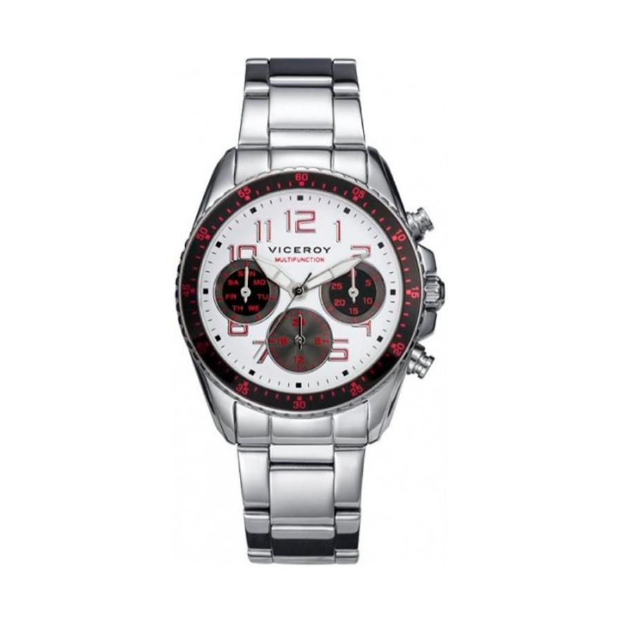 Reloj Viceroy Hombre 432317-05 Acero esfera multicolor con bisel negro y detalles rojos