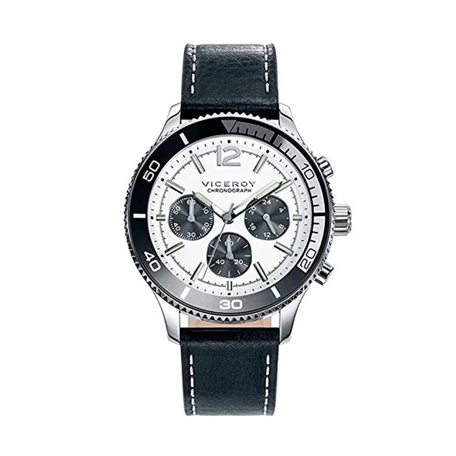 Reloj Viceroy Hombre 471067-07 Cronómetro Piel negra