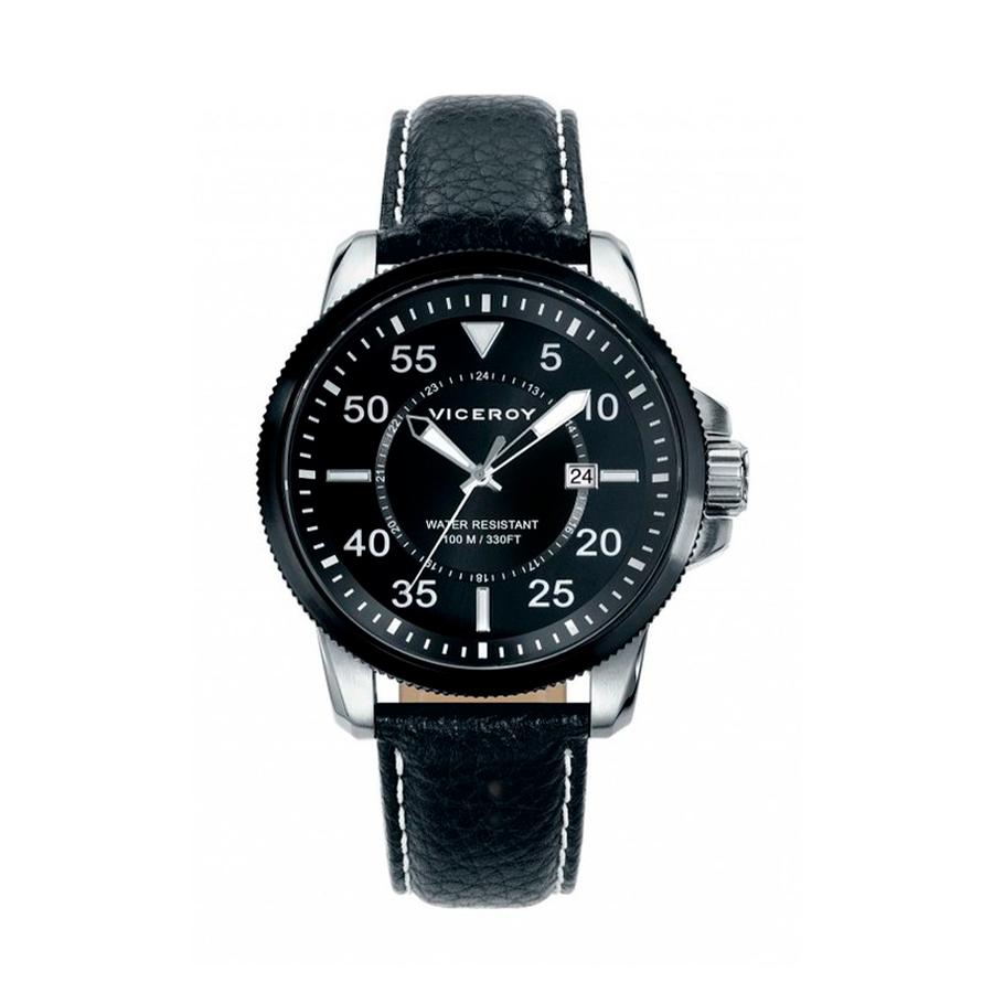 Reloj Viceroy Hombre 47831-04 Correa piel negra