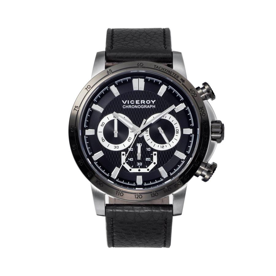 Reloj Viceroy Hombre 47863-57 Cronómetro Piel negra