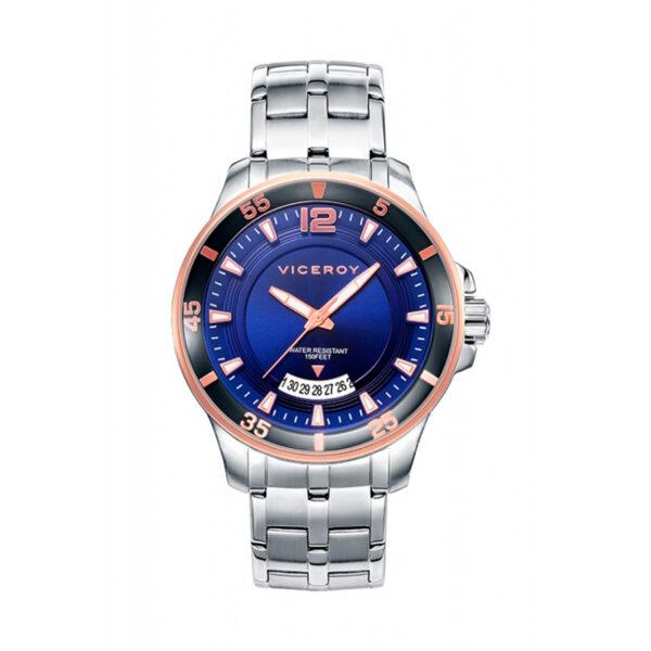 Reloj Viceroy Icon Hombre 42255-35 Acero esfera azul