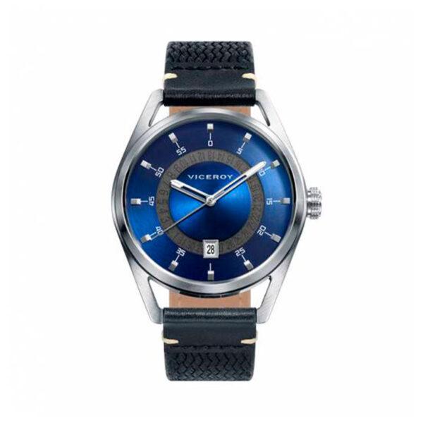 Reloj Viceroy Icon Hombre 42345-37 Esfera azul correa nylon