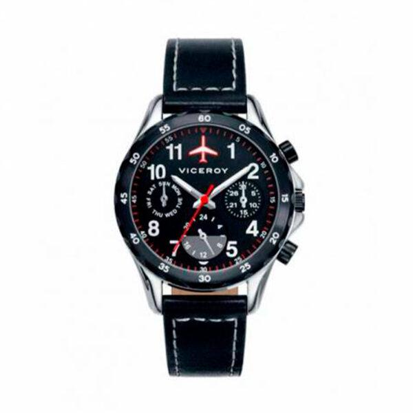 Reloj Viceroy Junior Niño 40455-54 Multifunción correa piel negra