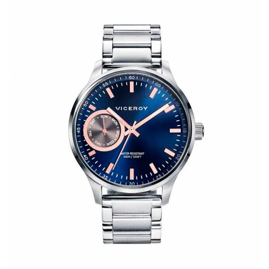 Reloj Viceroy Magnum Hombre 471057-37 Multifunción acero esfera azul