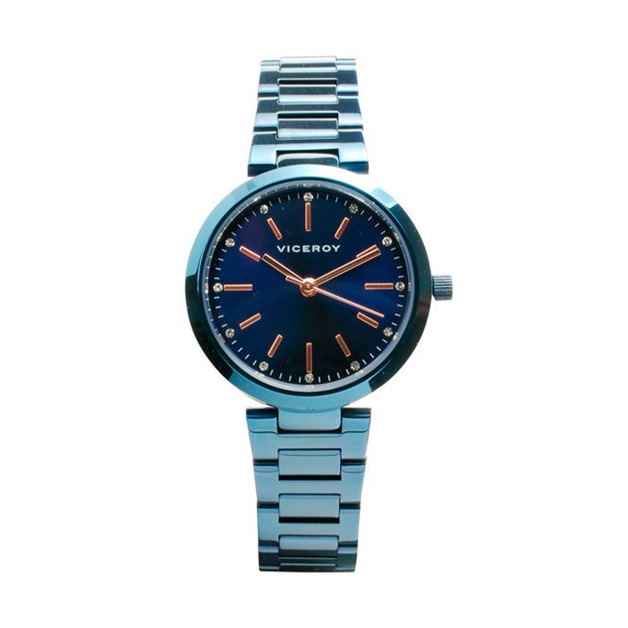 Reloj Viceroy Mujer 40864-37 Acero con esfera azul y detalles rosados