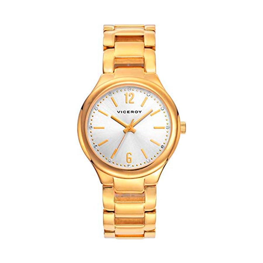 Reloj Viceroy Mujer 40916-15 Acero dorado esfera blanca