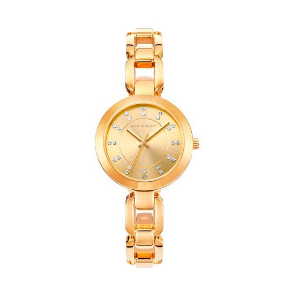 Reloj Viceroy Mujer 40926-20 Acero dorado con cristales en esfera