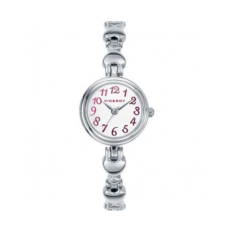 Reloj Viceroy Mujer 432266-05 Acero esfera blanca con detalles granates