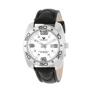 Reloj Viceroy Mujer 46680-05 Acero esfera blanca con Calendario y correa piel negra