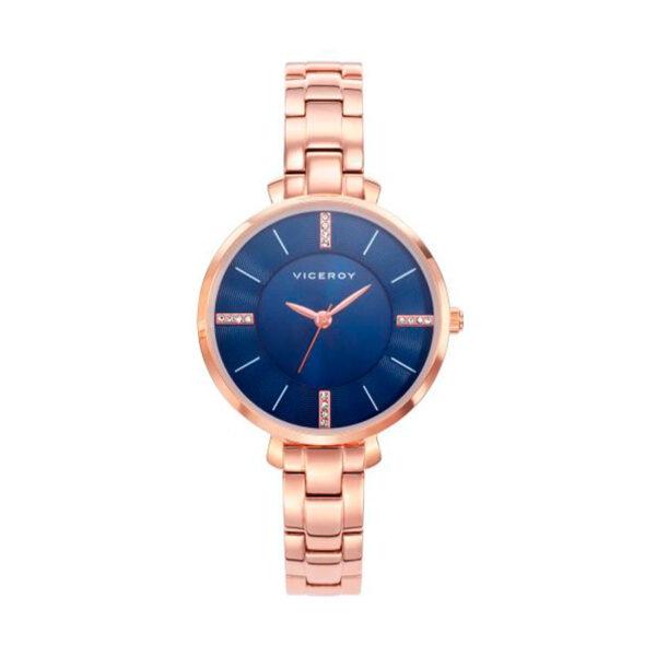 Reloj Viceroy Mujer 471062-37 Acero rosado esfera azul ornamentada con cristales