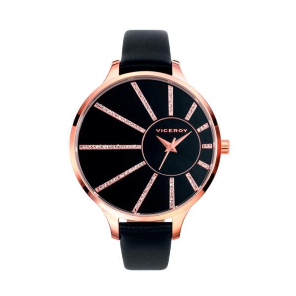 Reloj Viceroy Mujer 47812-57 Correa piel negra