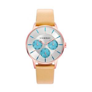 Reloj Viceroy New Mujer 471162-17 Caja rosada correa marrón