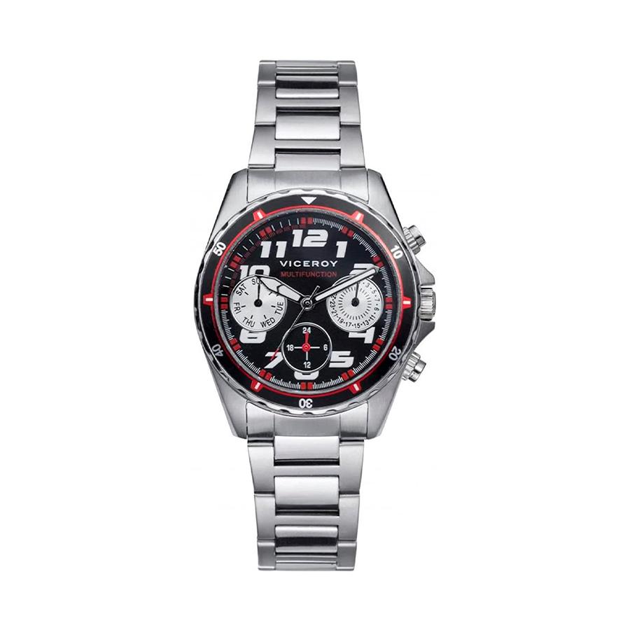 Reloj Viceroy Next Hombre 432319-54 Acero esfera negra con detalles rojos y blancos