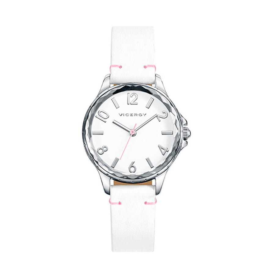 Reloj Viceroy Sweet Niña 401014-05 Correa piel blanca