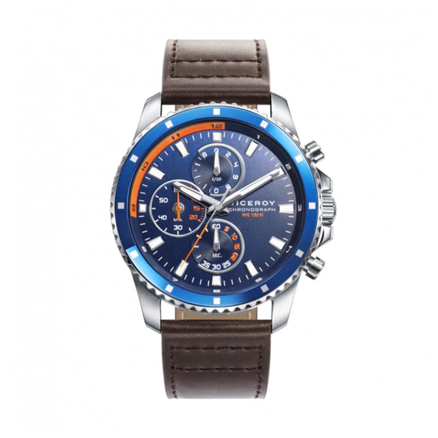Reloj Viceroy Vincero Hombre 46745-37 Cronoógrafo correa piel marrón