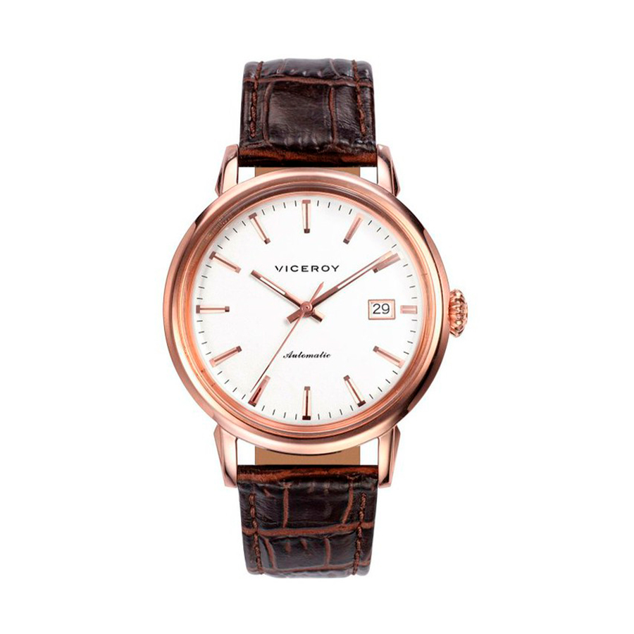 Reloj Viceroy Vintage Hombre 46559-07 Automático correa piel marrón