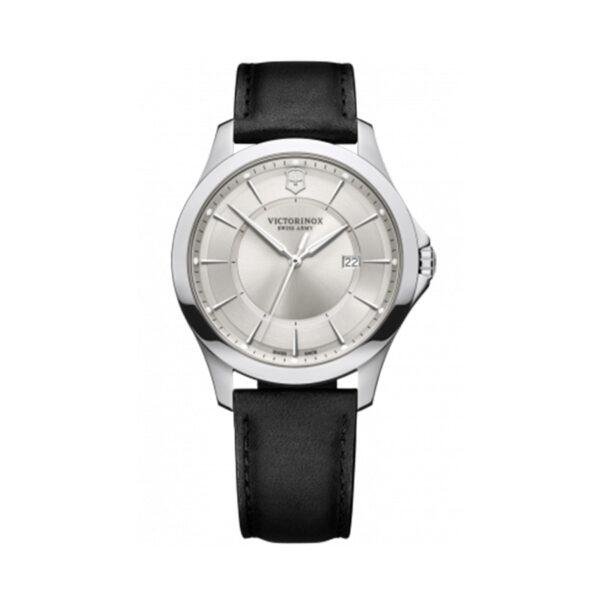 Reloj Victorinox Alliance Hombre V241905 Acero con esfera plata y correa piel negra